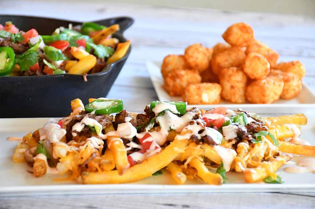 Brisket Loaded Fries | Loaded Fries | Potato Recipes | #4thofJuly #brisketloadedfries #potatoes #brisket