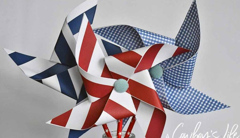 Easy Patriotic Pinwheel Craft | DIY Pinwheel | Summer Crafts | 4th of July Crafts | Fourth of July Craft #pinwheel #pinwheelcraft #summercraft