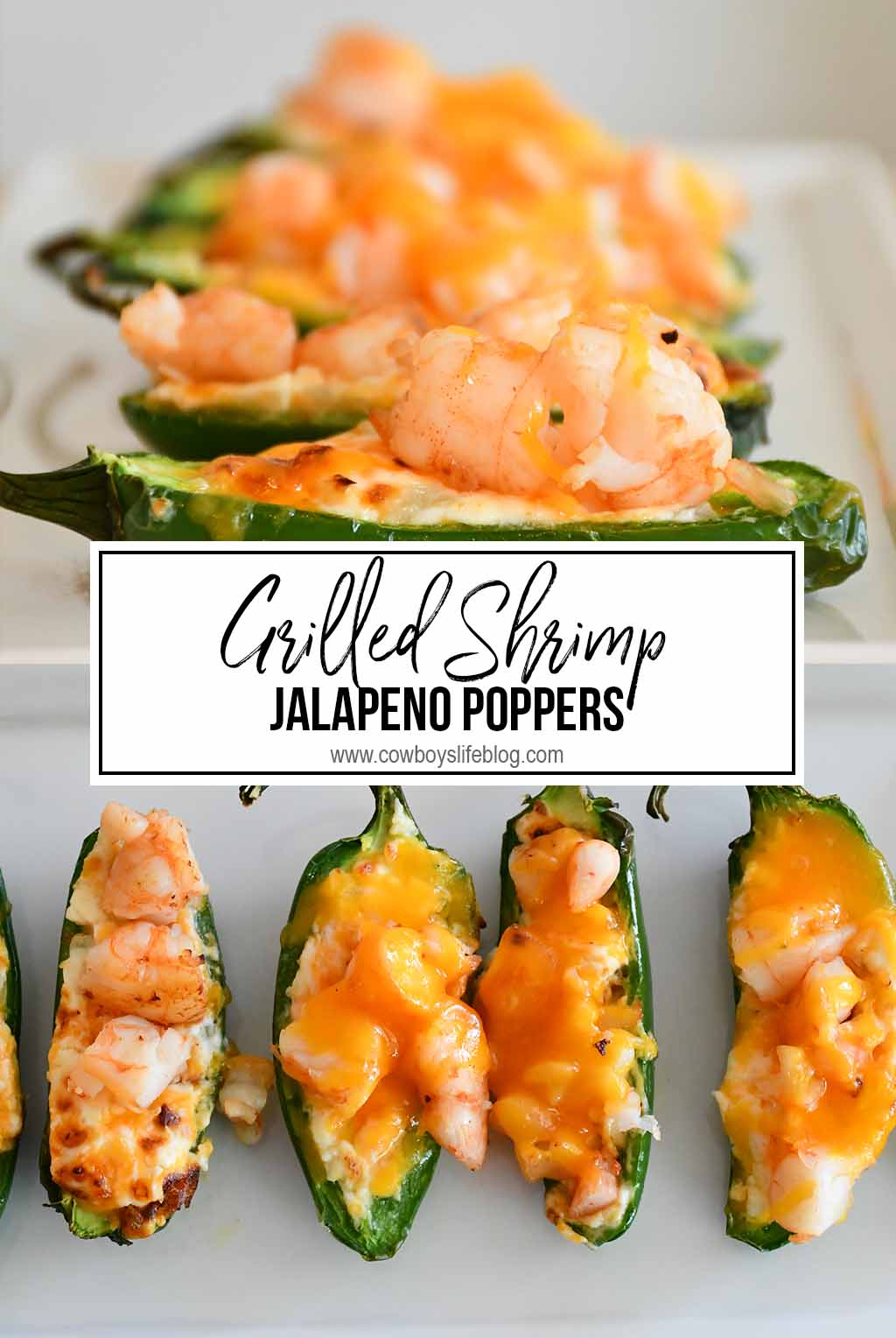 grilled shrimp jalapeño poppers | jalapeño poppers | grilled poppers | grilled shrimp | appetizers | game day recipes | football recipes #jalapenopoppers #appetizers #gameday