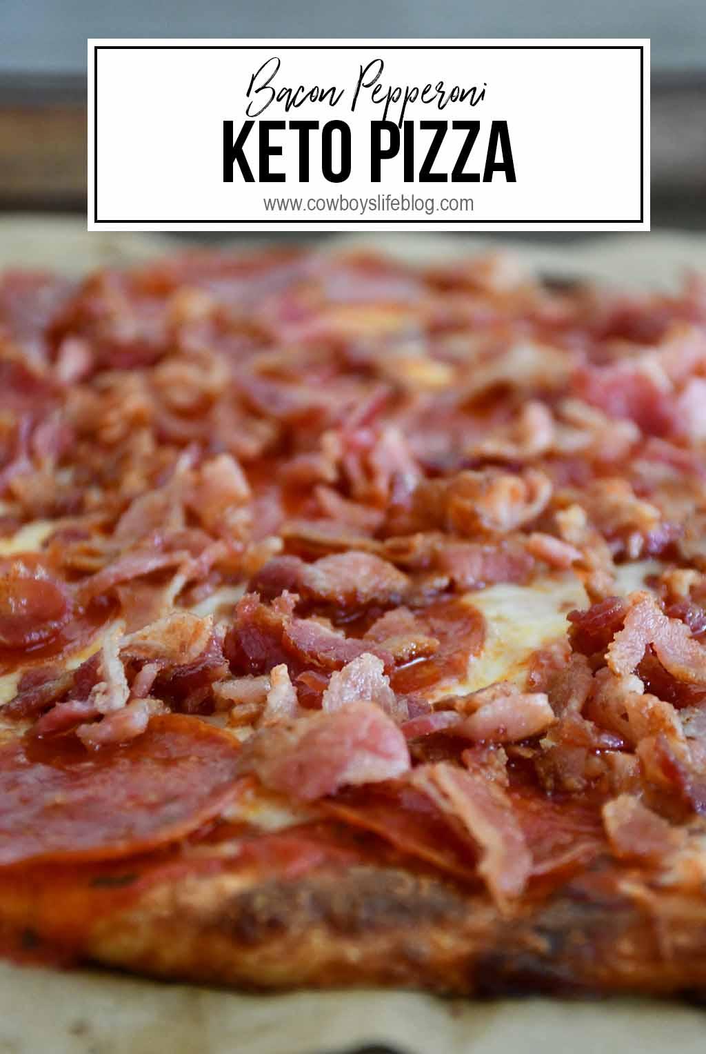 Bacon Pepperoni Keto Pizza | Keto Pizza Crust | Keto Fat Dough | Keto Dinner Ideas | Low Carb Pizza #ketopizza #ketodinner #lowcarbpizza