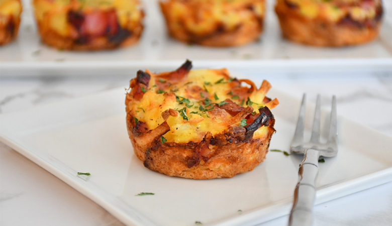 How to make Hash Brown Ham & Cheese Egg Cups