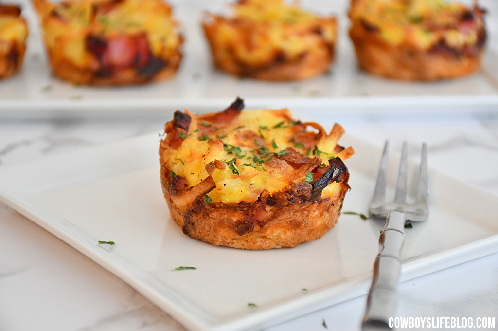 Hash Brown Ham and Cheese Egg Cups