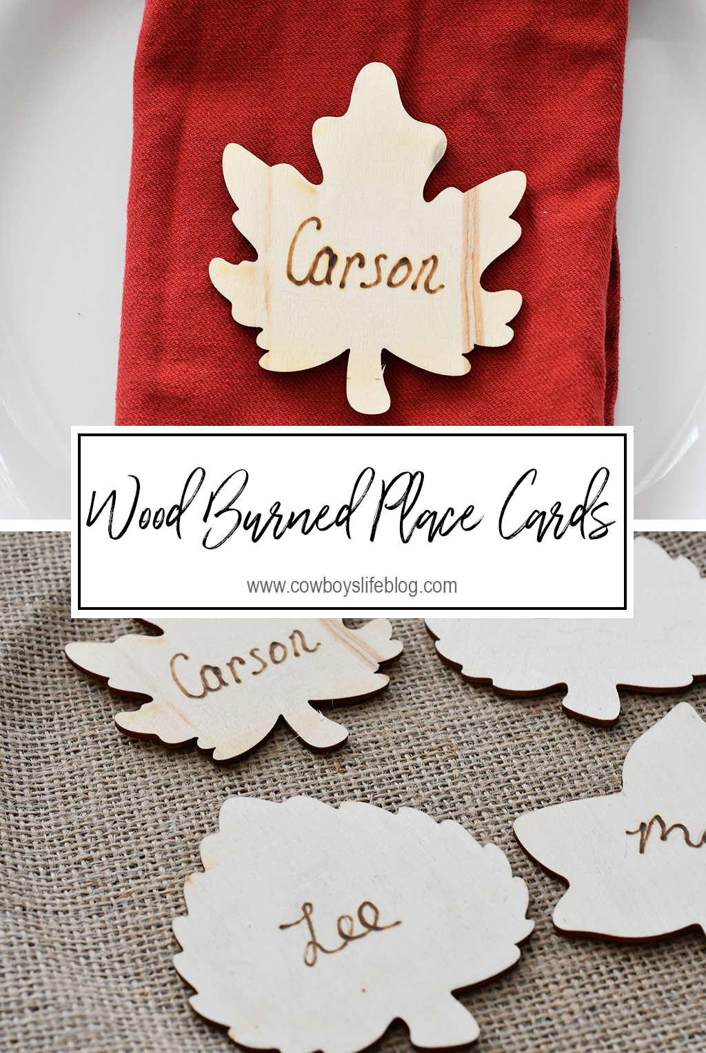 How to make DIY wood burned place cards