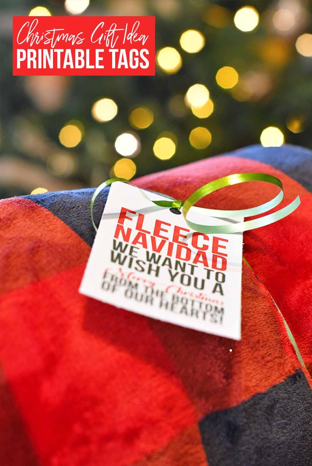 Christmas gift idea printable tags