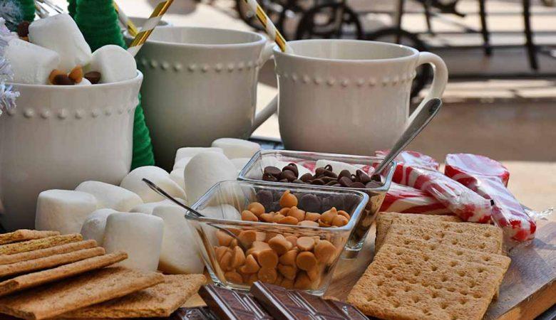 Hot Chocolate Dessert Board