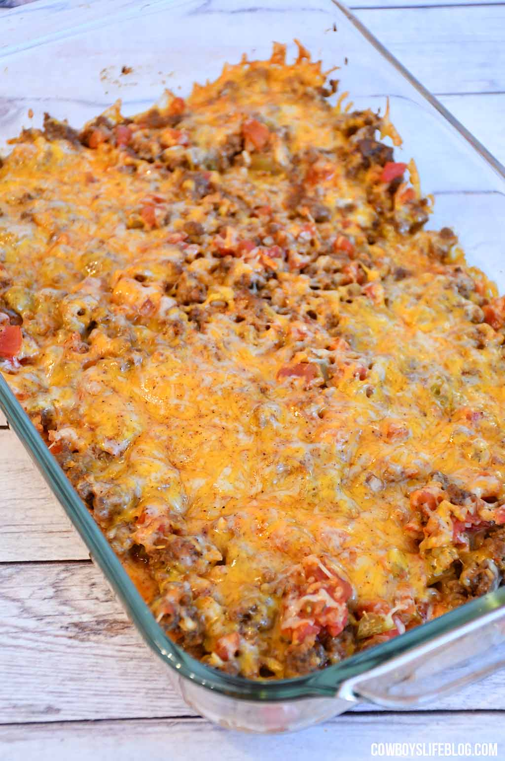 Easy Beef Taco Casserole