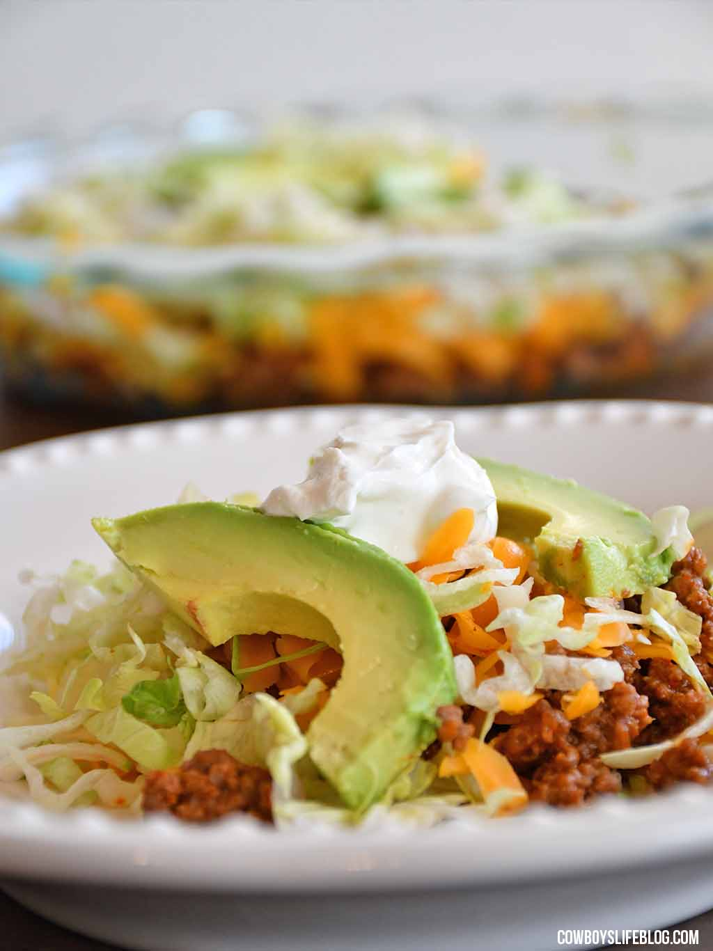 Crustless Taco Pie