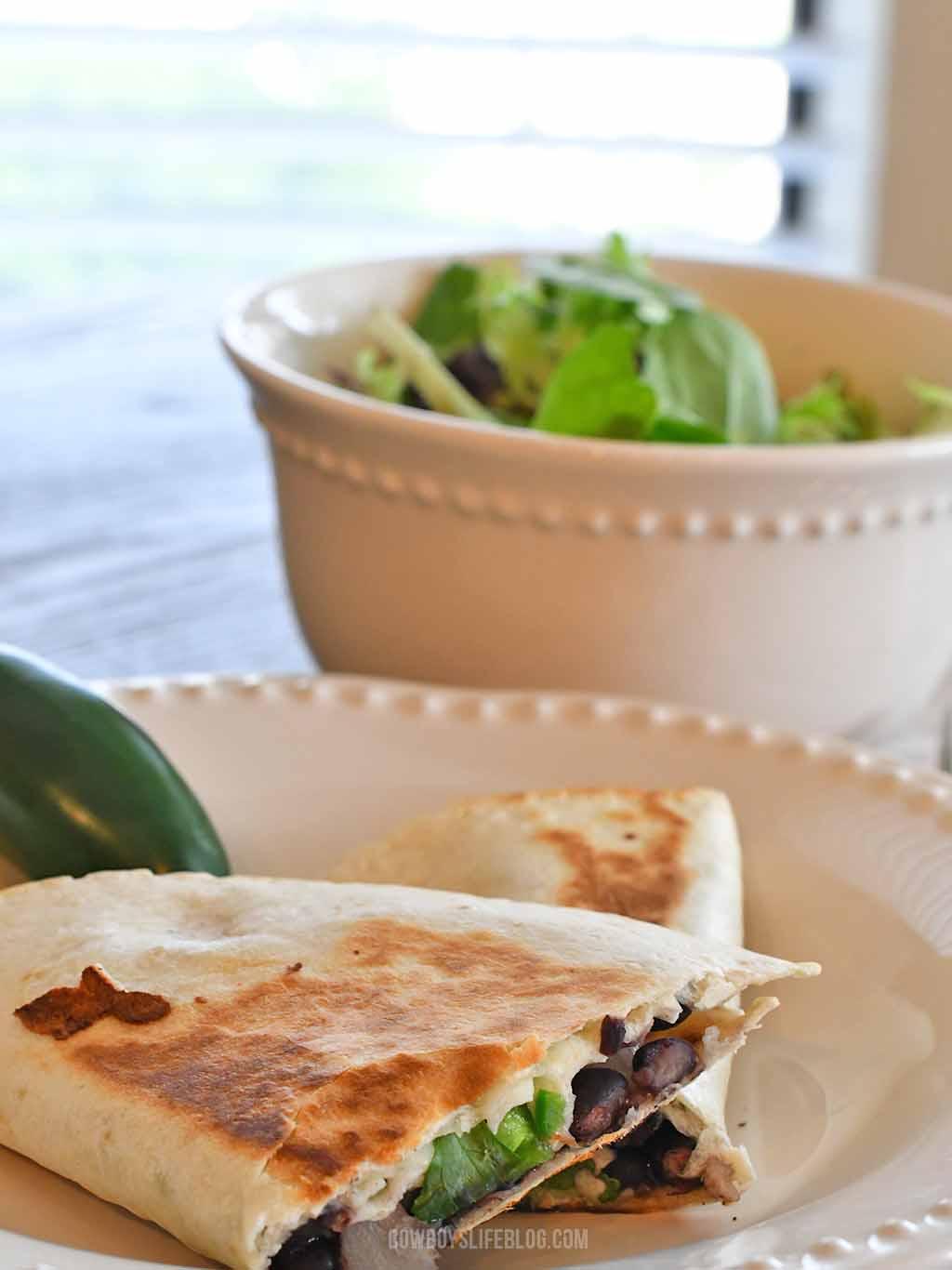 How to make black bean quesadillas