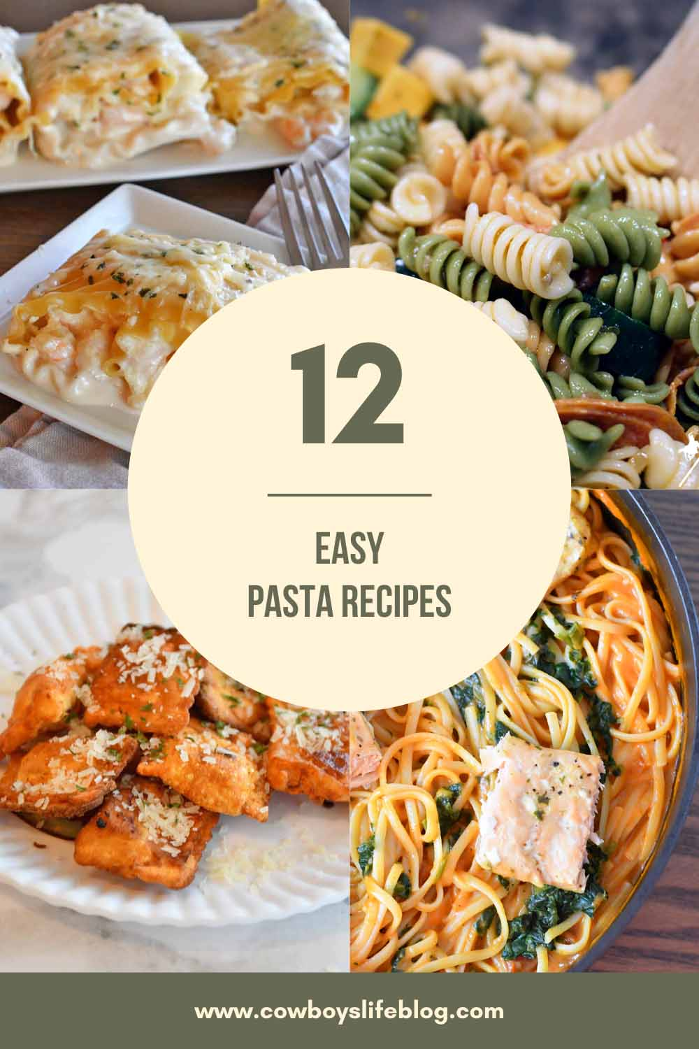 12 Easy Pasta Recipes
