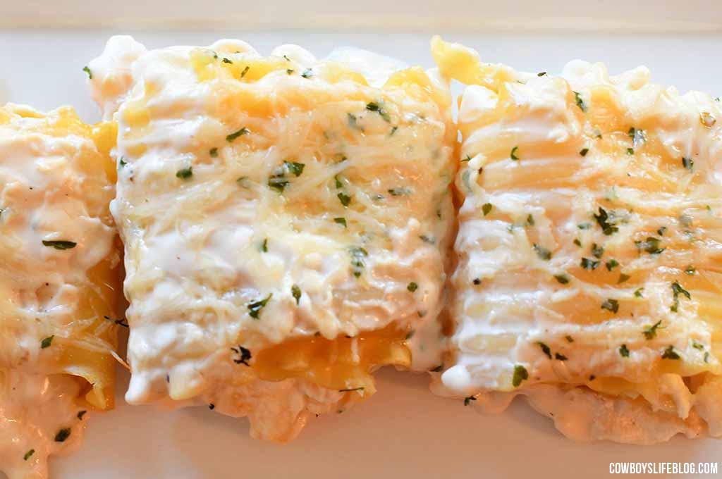 How to make shrimp lasagna rollups