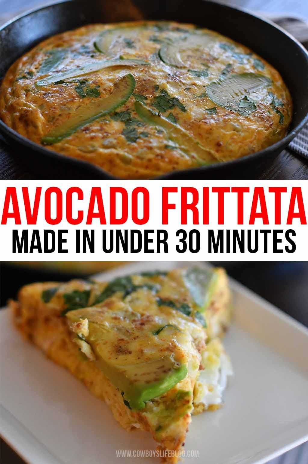 How to make an Avocado Frittata