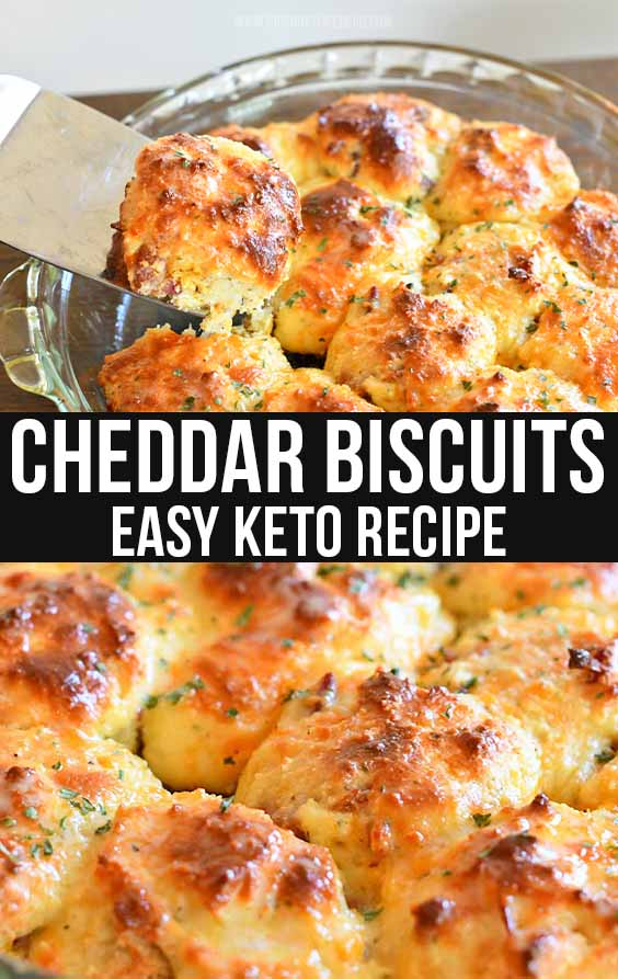 Cheddar Bacon Keto Biscuits Recipe