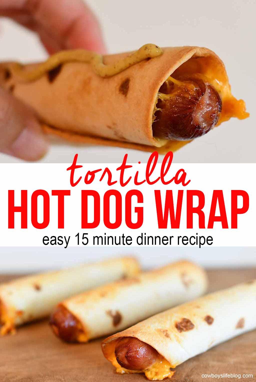 Hot to maketortilla hot dog wraps