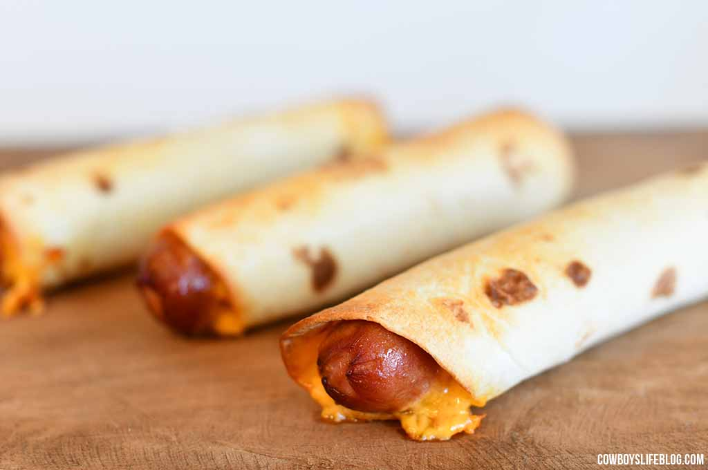 Hot to make tortilla hot dog wraps