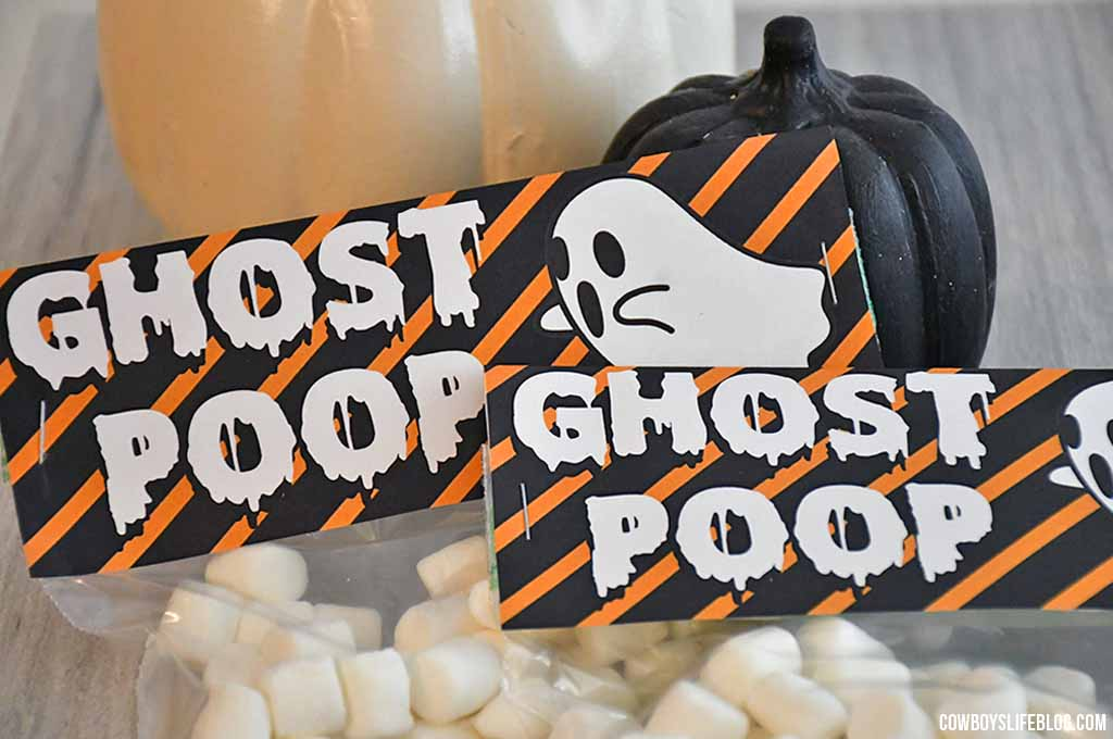 Ghost Poop Treat Bag Topper