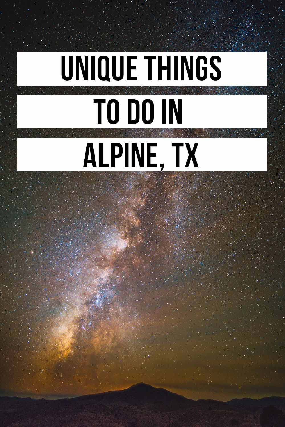 The best things to do in Alpine TX